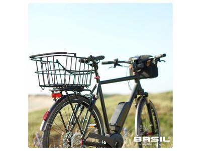 Basil Cento Multi System - Cykelkurv til bag i aluminium - Sort