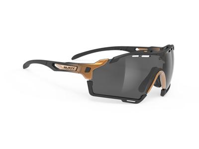 Rudy Project Cutline - Løbe- og cykelbrille - Smoke black linser - Bronze fade
