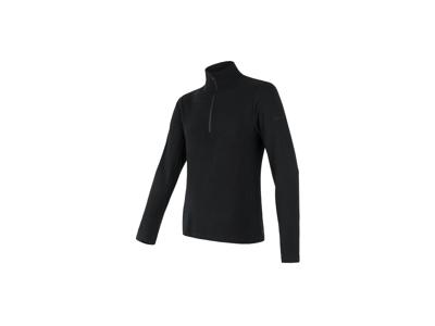 Sensor Merino Extreme - T-shirt m.  lange ærmer - lynlås i hals - Herre - Sort