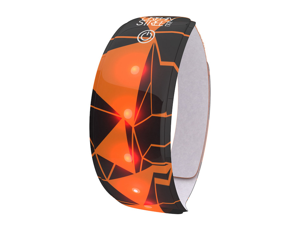 WOWOW Urban Street Lightband - Refleksbånd til arm med LED - Orange thumbnail