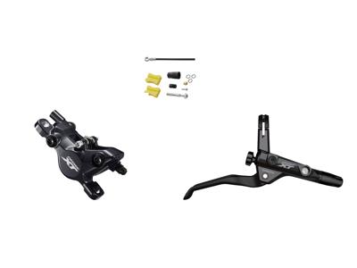 Shimano XT T8100 - Hydraulisk bremsesæt til Trekking - Bag/højre - resin