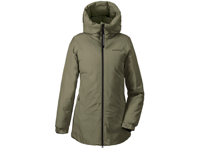 Didriksons - Lima - Womens Puff Jacket - Khaki Grøn