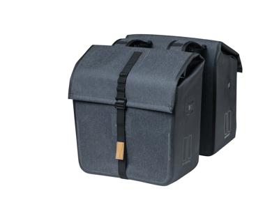 Basil Urban Dry - Cykeltaske til bag - Double - 50 liter - Charcoal melee