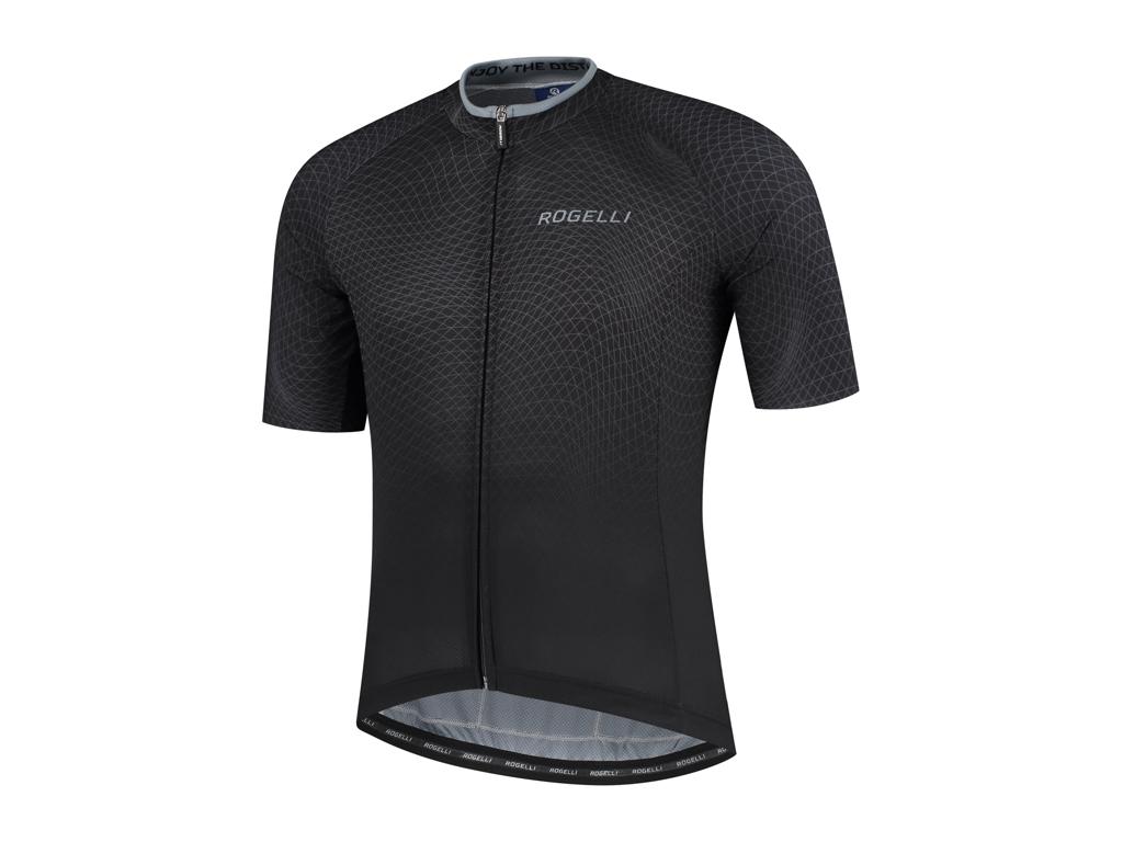 Rogelli Weave - Cykeltrøje - Korte ærmer - Sort/Grå - Str. 3XL
