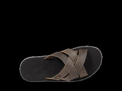 Teva M Voya Slide Leather - Sandal til mænd - Grøn