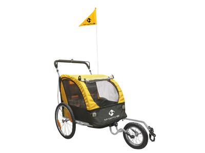 M-Wave Stalwart Kid 3in1 - Cykeltrailer/babyjogger - 2 sæder - EN15918 godkendt