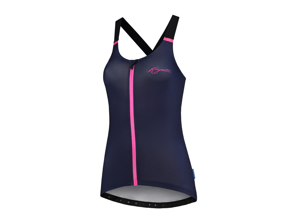 Image of   Rogelli Twist - Tank Top - Dame - Race Fit - Blå/Pink - Str. XS