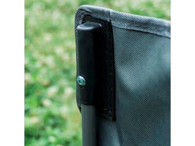 Lome Fishing - Camping stol - Foldbar - 13,5mm stålrør - Grå