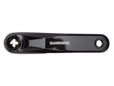Shimano Steps - Pedalarm højre side til FC-E5010 - 165mm lang - Firkant fit - Sølv