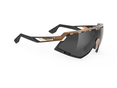 Rudy Project Defender - Løbe- og cykelbrille - Smoke black - Mat bronze
