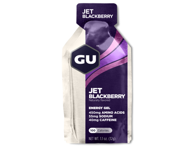 GU Energy Gel - Jet Blackberry - 40 mg koffein - 32 gram