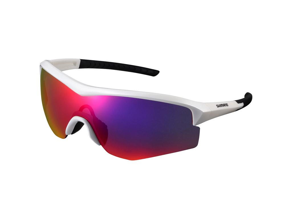 Image of   Shimano Cykelbriller - Spark - Smoke røde linser - Metallic Hvid