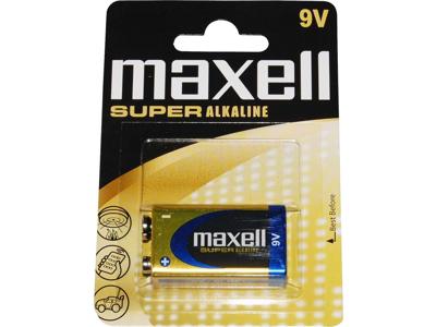 Maxell - Batteri - 6LR61 Alkaline 9v - 1 stk