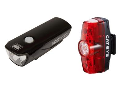 Cateye Volt100 + Rapid Mini - Lygtesæt - USB opladelig