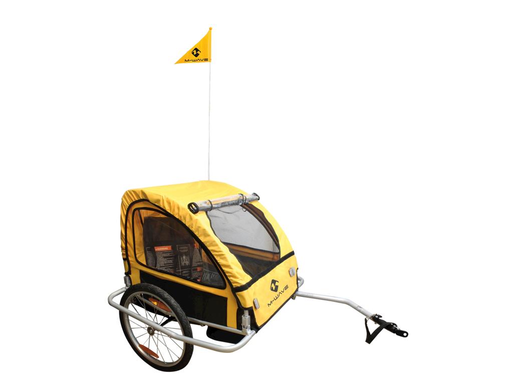 Køb M-Wave Stalwart Kid Easy Light – Cykeltrailer – Foldbar – Aluminiumsstel – 2 sæder