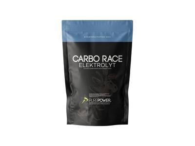 PurePower Carbo Race Elektrolyt - Energidrik - Blåbær - 1,0 kg