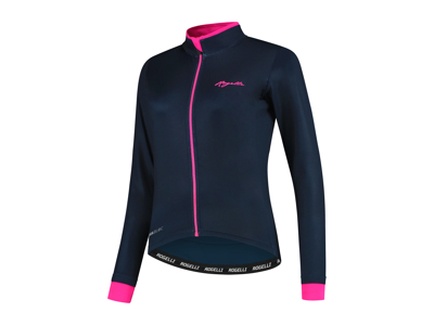 Rogelli Essential - Cycling Jersey Women - Long Sleeves - Black / Pink
