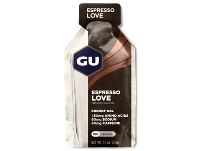 GU Energy Gel - Espresso Love - 40 mg koffein - 32 gram