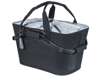 Basil Noir Carry All - Cykelkurv til bag med MIK system - 22 liter - Midnight black