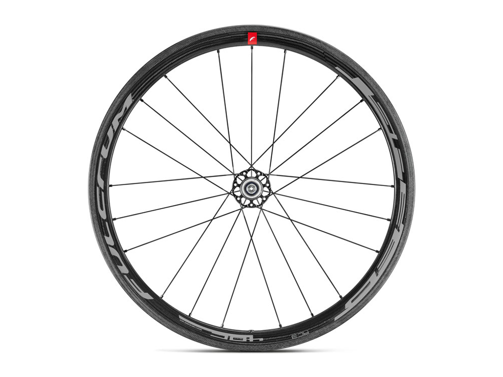 "Fulcrum Speed 40 Carbon - Hjulsæt - Road - 28"" - 1400 g. - Clincher - QR - HG11 thumbnail"