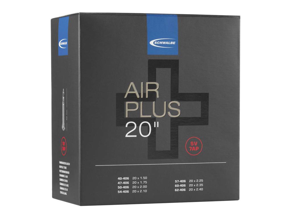 Schwalbe Air Plus - Slange 20 x 1,50-2,40 med 40mm lang Racer ventil SV7AP thumbnail