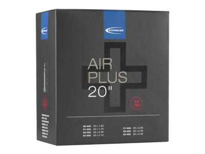 Schwalbe Air Plus - Slang 20 x 1,50-2,40 med Racer-ventil SV7AP