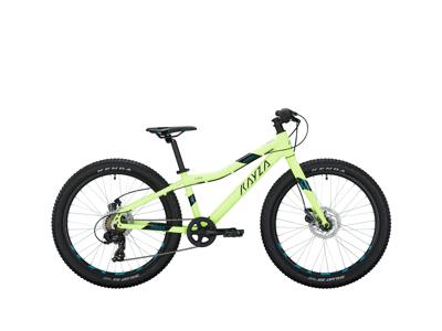 "KAYZA Zirco 4 - MTB m. 7 gear - neon yellow - 24"" hjul"