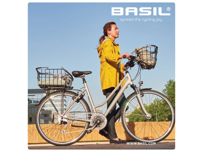 Basil Cento - Cykelkurv til bag - Sort - Nordlicht LED