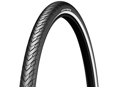 Michelin Protek - City tråddæk - 700x35c (37-622) - Sort med refleks