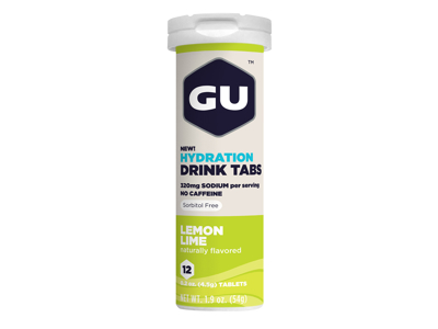 GU Hydration Tabs - Lemon Lime - 1  x 12 stk.