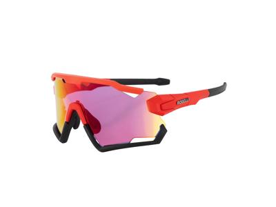 Rogelli Switch - Cykelbrille - TR-90 - 3 sæt linser - Rød/Sort