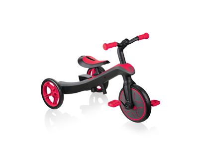 Globber Trike Explorer - Løbecykel 2 in 1 - Rød