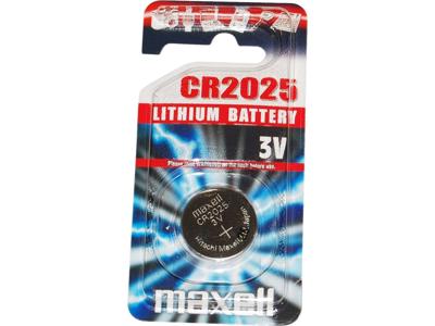 Maxell - Batteri - CR2025 Lithium 3v - 1 stk