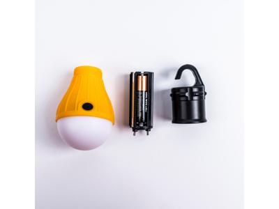 Lome Camping - Lampe med krog - Batteri model - Exclusiv batterier