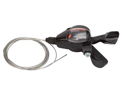 Shimano Nexus SL-7S50 Rapidfire plus - Skiftegreb - 7 Gear inklusiv kabel - Sølv