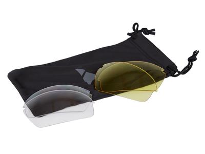 Ongear La Marmotte - Cykelbrille med 3 PC linser - Smoke, gul og klar - Mat sølv