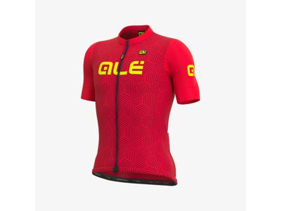 Alé Solid Cross - Cykeltröja med korta ärmar - Röd