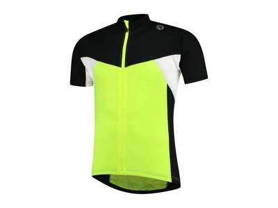 Rogelli Recco 2.0 - Cykeltröja - Korta ärmar - Barn - Gul / Svart / Vit