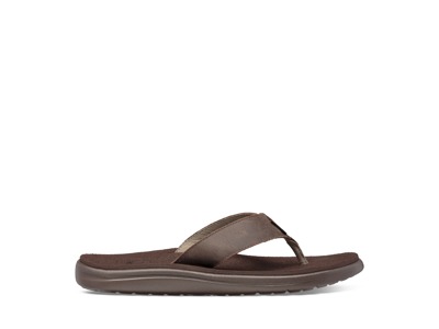 Teva M Voya Flip Leather - Sandal til mænd - Chocolate Brown