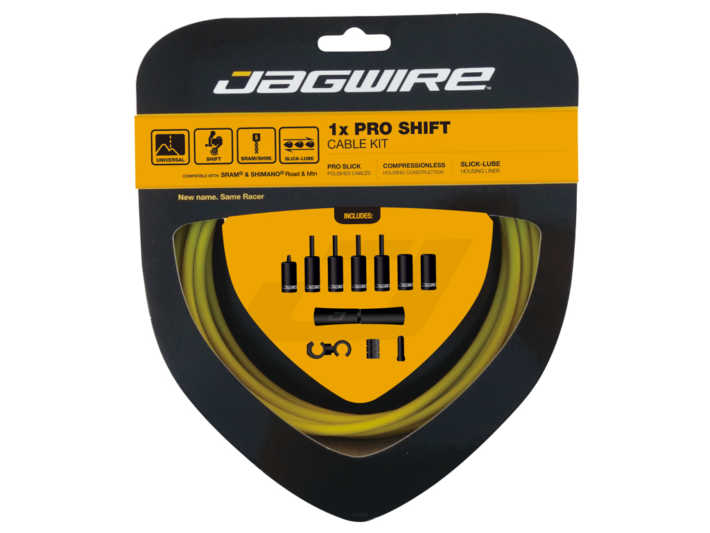 Image of   Jagwire - Pro Shift - 1x Gearkabel sæt - Road/MTB - Gul