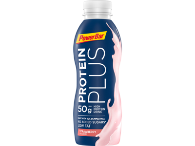 Powerbar - Protein Plus - High Prodein Drink - Jordbær - 500 ml