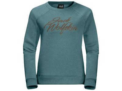 Jack Wolfskin Winther-logotyp - T-shirt dam med lång ärm