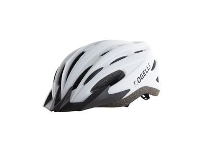 Rogelli Ferox - Cykelhjelm med skygge - Hvid/Sort
