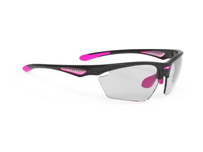 Rudy Project Stratofly - Løbe- og cykelbrille - Fotokromiske linser - Sort gloss