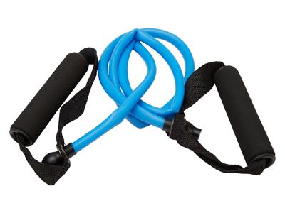 OnGear - Træningselastik - Toning Tube m/håndtag - Heavy - 1200x11x7mm - Blå