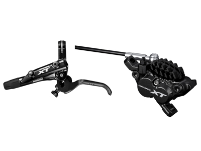Shimano XT M8000-2 - Hydraulisk bremsesæt med 4 stempler - For/venstre - resin