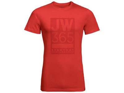 Jack Wolfskin 365 T-Shirt - Hr. - Lava Red