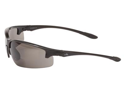 Ongear Stelvio - Cykelbrille med PC Smoke bifocal linse +2,5 - Blank sort
