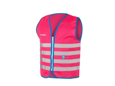 WOWOW Fun jacket - Refleksvest med lynlås til børn - Pink
