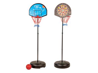 My Hood  - Basket kurv og Dart i en stander - Med plastbold, pile og pumpe
